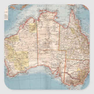 Sticker Carré Topographie australienne Map (1905)