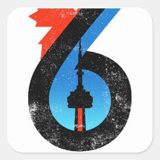 Sticker Carré Toronto le six