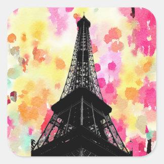 Sticker Carré Tour Eiffel