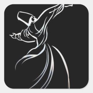 Sticker Carré Tourbillonnement de Sufi