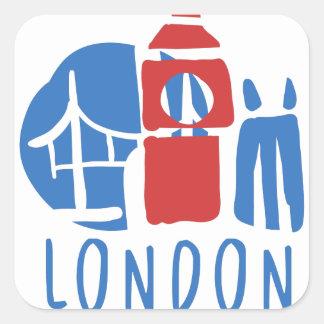 Sticker Carré Tourisme de Londres