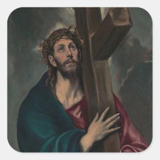 Sticker Carré Transport de la croix