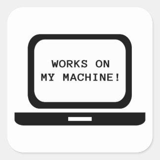 Sticker Carré Travaux sur ma machine