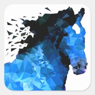 Sticker Carré Triangle de cheval