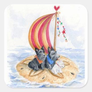 Sticker Carré Trio de navigation de Scottie