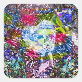 Sticker Carré Un coeur de diamant brille sur l'étang