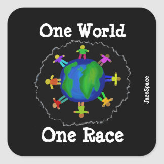 Sticker Carré Un monde, une course