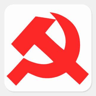 Sticker Carré Union Soviétique primitive CCCP de marteau et de