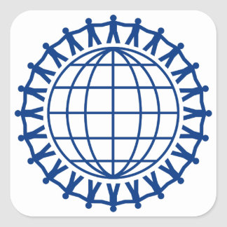 Sticker Carré Unissez autour du monde