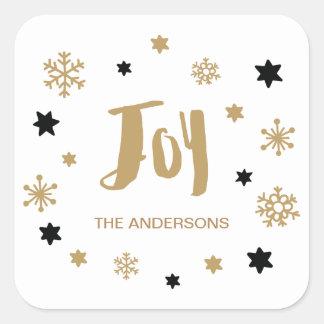 Sticker Carré Vacances à la mode avec du charme de joie