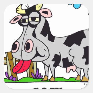Sticker Carré Vache par le © de Lorenzo Lorenzo 2018 Traverso