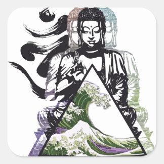 Sticker Carré vague 2 de Bouddha