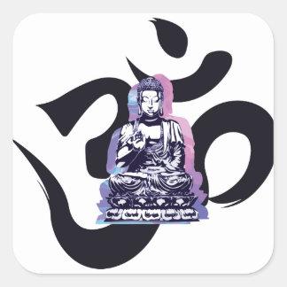 Sticker Carré vague 3 de Bouddha
