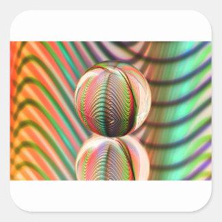 Sticker Carré Variation sur le thème