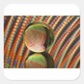 Sticker Carré Variation sur un thème 2