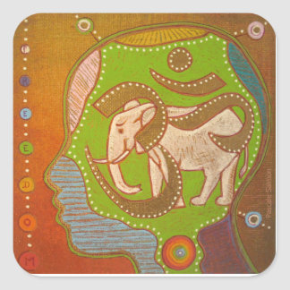 Sticker Carré Vegan Aum