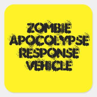 Sticker Carré Véhicule de réponse d'Apocolypse de zombi
