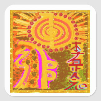 Sticker Carré ver 2013. Symboles curatifs de REIKI