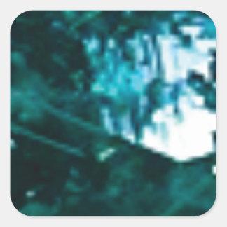 Sticker Carré verre vert brisé