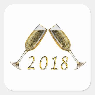 Sticker Carré Verres 2018 de Champagne