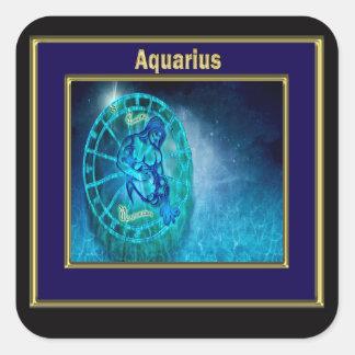 Sticker Carré Verseau l'horoscope de porteur de l'eau
