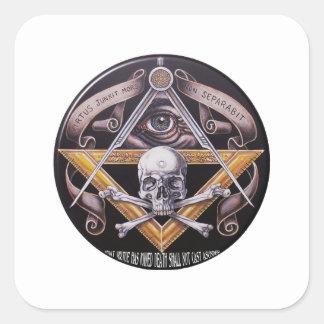 Sticker Carré Vertu maçonnique