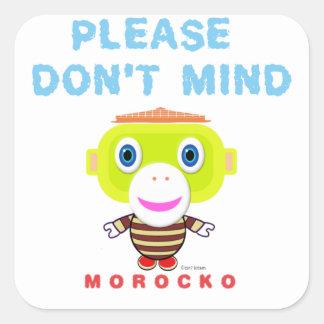 Sticker Carré Veuillez faire pas le Singe-Morocko Esprit-Mignon