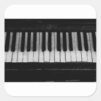 Sticker Carré Vieille musique d'instrument de clavier de piano à
