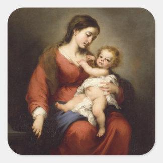 Sticker Carré Vierge et enfant