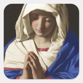 Sticker Carré Vierge Marie