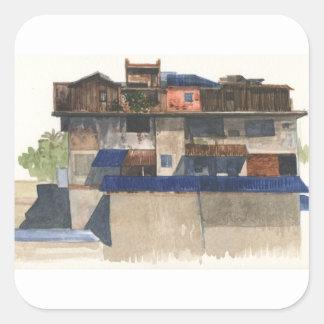 Sticker Carré Village vertical @ Phnom Penh