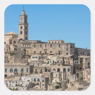 Sticker Carré Ville de Matera de Di de Sassi en Italie