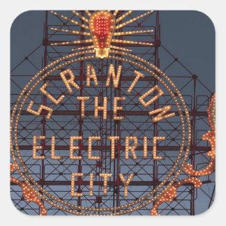 Sticker Carré Ville électrique de Scranton