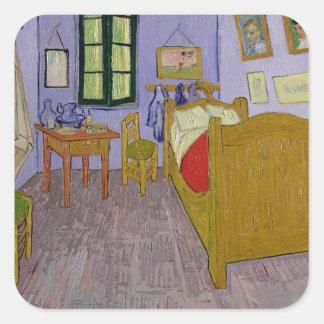 Sticker Carré Vincent van Gogh chambre à coucher de   Van Gogh