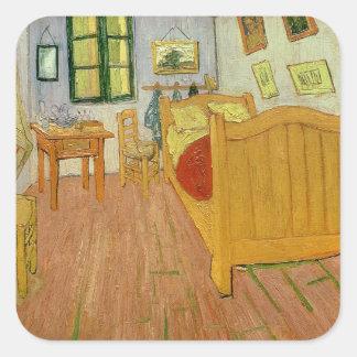 Sticker Carré Vincent van Gogh | la chambre à coucher, 1888