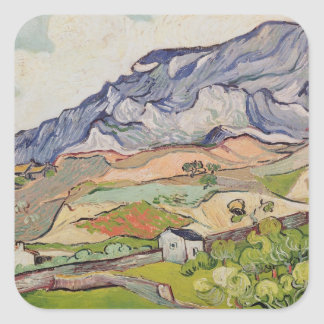 Sticker Carré Vincent van Gogh | l'Alpilles, 1890