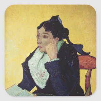 Sticker Carré Vincent van Gogh | L'Arlesienne 1888
