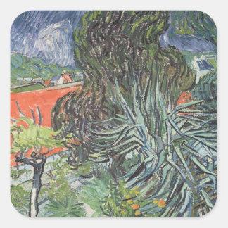 Sticker Carré Vincent van Gogh | le jardin de docteur Gachet
