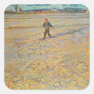 Sticker Carré Vincent van Gogh | le semeur, 1888