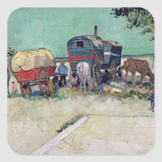 Sticker Carré Vincent van Gogh | les caravanes, campement gitan