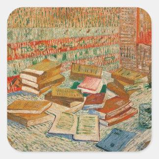 Sticker Carré Vincent van Gogh | les livres jaunes, 1887