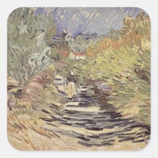 Sticker Carré Vincent van Gogh | une route dans St Remy