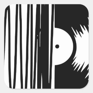 Sticker Carré vinil de musique