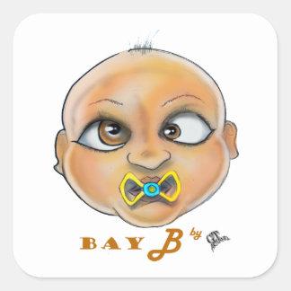 Sticker Carré Visage de la baie B