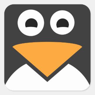 Sticker Carré Visage de pingouin