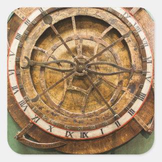 Sticker Carré Visage d'horloge antique, Allemagne
