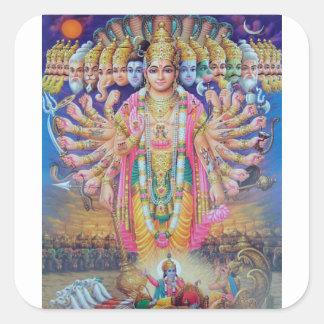 Sticker Carré Vishnu