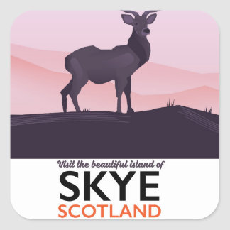 Sticker Carré Visitez la belle île de Skye