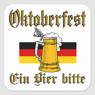 Sticker Carré Vitesse d'Oktoberfest