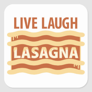 Sticker Carré Vivent le lasagne de rire